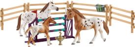 Schleich Horse Club - 42433 Lisas Turnier-Training mit Appaloosa Familie, ab 3 Jahre