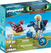 Playmobil 70041 Astrid mit Fluganzug und Hobgobbler