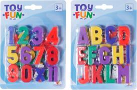 Toy Fun Magnet Buchstaben & Zahlen, 2-fach sortiert