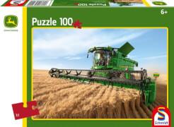 Schmidt Spiele Puzzle John Deere Mähdrescher S690, 100 Teile