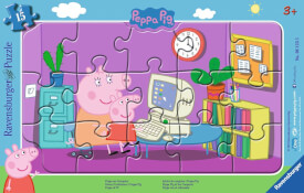 Ravensburger 06123 Puzzle: Peppa am Computer, 8-17 Teile