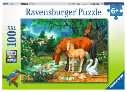 Ravensburger 10833 Puzzle XXL: Idylle am Teich, 100 Teile