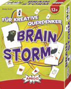 AMIGO 01652 Brain Storm, Kartenspiel, 120 Spielkarten, für 2-10 Spieler, Spieldauer: ca. 15 Min, ab 12 Jahre