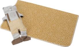 Decke Juwel inkl. Puppe Bär, ca. 70x90 cm, 95 % Baumwolle